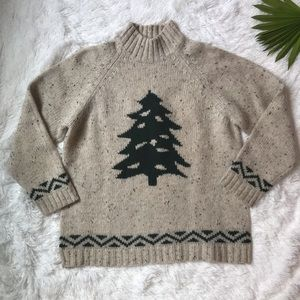 Eddie Bauer Vintage Christmas holiday sweater Sz M